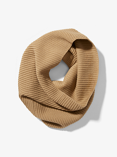 Cashmere Ribbed Cowl Scarf by Michael Kors