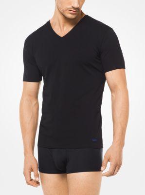 마이클 코어스 맨 브이넥 티셔츠 2팩 Michael Kors 2-Pack Stretch-Cotton V-Neck T-Shirt