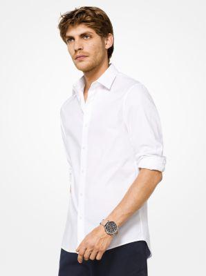 마이클 코어스 맨 슬림핏 셔츠 Michael Kors Slim-Fit Stretch-Cotton Shirt