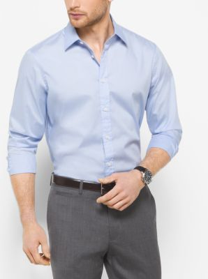 Tailored-Fit Stretch-Cotton Shirt by Michael Kors