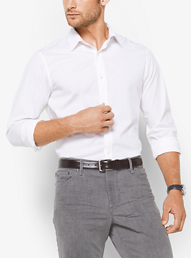 Camicia slim-fit in cotone stretch by Michael Kors