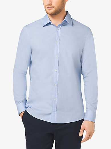 Slim-Fit Stretch-Cotton Shirt by Michael Kors