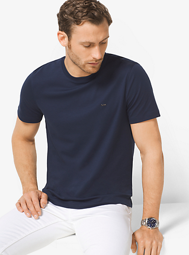 T-shirt a girocollo in cotone by Michael Kors