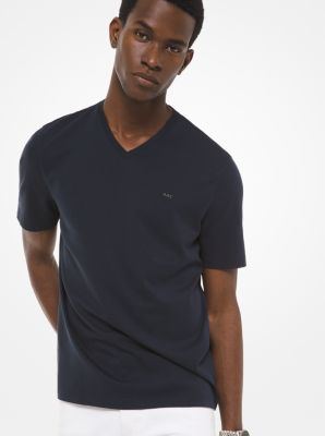 V-Neck Cotton T-Shirt by Michael Kors
