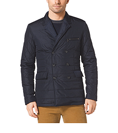 Quilted Double-Breasted Blazer