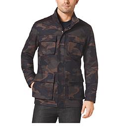 Camouflage-Print Utility Jacket
