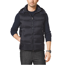Hooded Down-Filled Vest