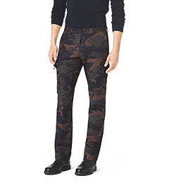 Camouflage Stretch-Cotton Cargo Pant