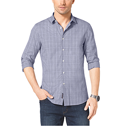 Check-Print Slim-Fit Cotton Shirt