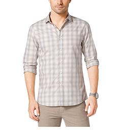 Plaid Slim-Fit Cotton Shirt