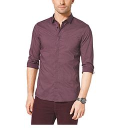 Printed Slim-Fit Cotton-Twill Shirt