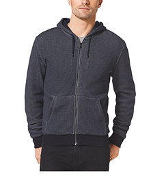 Lined Zip-Up Cotton Hoodie