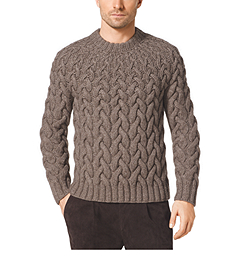 Shrinking Cable-Knit Wool-Blend Sweater
