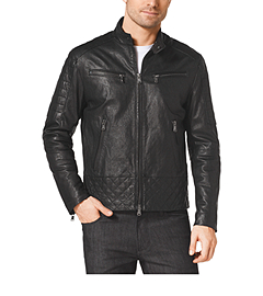 Quilted-Leather Jacket