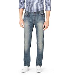 Tailored-Fit Stretch-Denim Jeans
