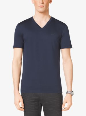 V-Neck Cotton T-Shirt by Michael Kors