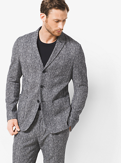Herringbone Blazer by Michael Kors