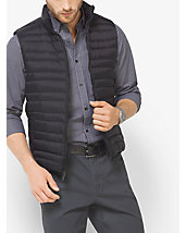Quilted-Nylon Down Vest