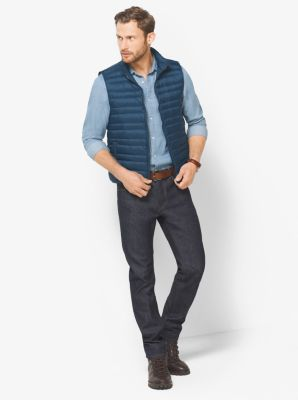 Quilted-Nylon Down Vest by Michael Kors