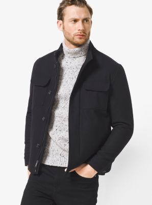 Wool-Melton Utility Jacket          by Michael Kors