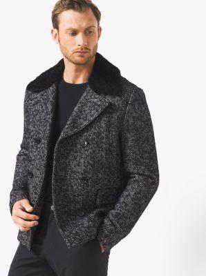 Herringbone Wool-Tweed Peacoat         by Michael Kors