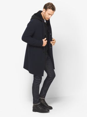 Double-Face Donegal Wool-Blend Coat by Michael Kors