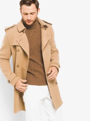 Wool-Jersey Trench Coat by Michael Kors