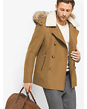 Fur-Trimmed Luxe Peacoat