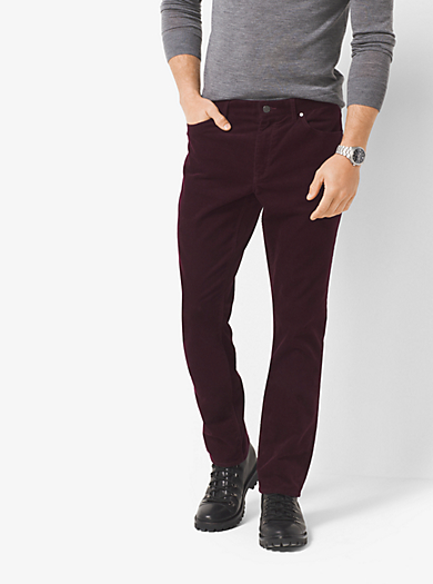 Slim-Fit Corduroy Trousers by Michael Kors