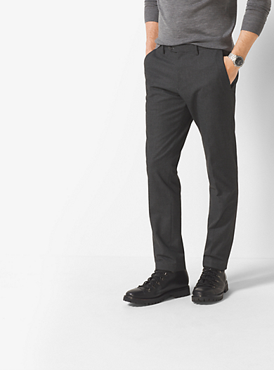 Slim-fit-Hose mit Hahnentrittmuster by Michael Kors