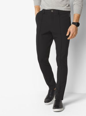 Pintuck Stretch-Cotton Pants  by Michael Kors