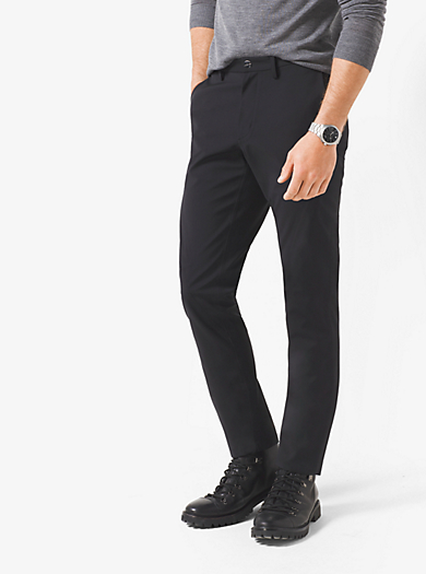 Wool-Melton Trousers  by Michael Kors