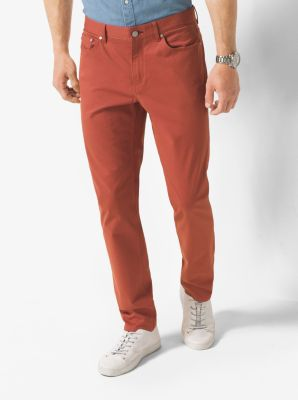 Slim-Fit Stretch-Twill Trousers by Michael Kors