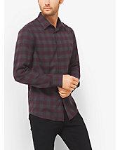 Chemise ajustée en coton à carreaux