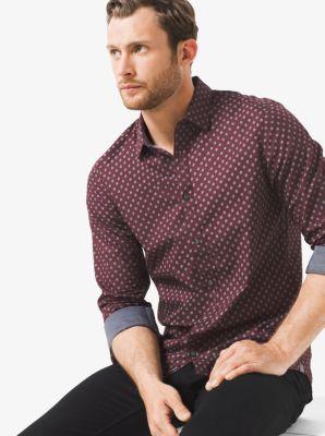 Slim-Fit Printed Cotton Shirt by Michael Kors