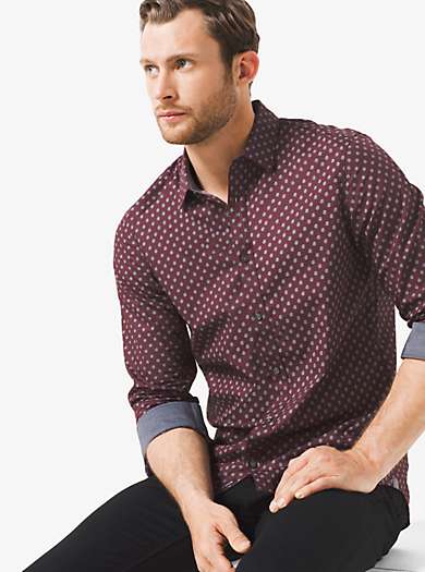 Camicia slim-fit in cotone stampato by Michael Kors