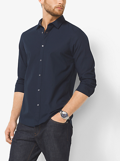 Slim-Fit Printed Cotton Shirt by Michael Kors