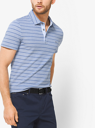 Polo a righe in misto cotone by Michael Kors