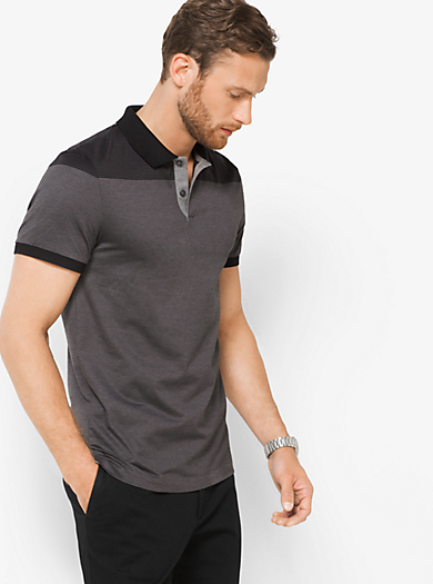 Polo in cotone a righe by Michael Kors