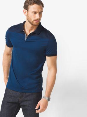 Striped Cotton Polo Shirt by Michael Kors