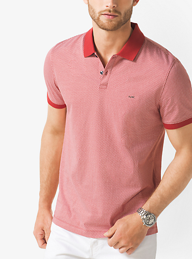 Polo stampata in cotone by Michael Kors