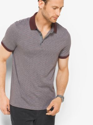 Striped Cotton Polo Shirt by Michael Kors