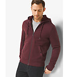 Sherpa-Lined Zip-Up French Terry Hoodie
