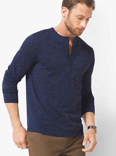 T-shirt serafino in cotone jaspé by Michael Kors