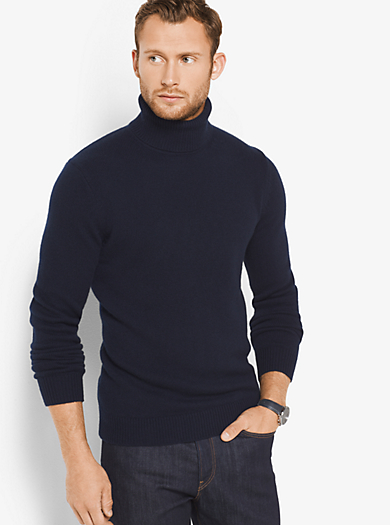 Cashmere Turtleneck Pullover by Michael Kors