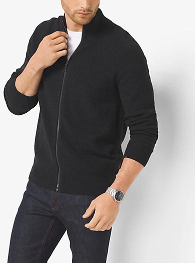 Cotton-Blend Mockneck Sweater    by Michael Kors