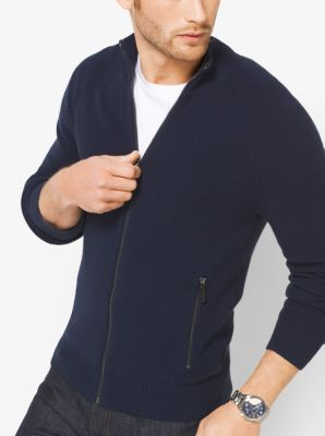 Cotton-Blend Mockneck Sweater    by Michael Kors