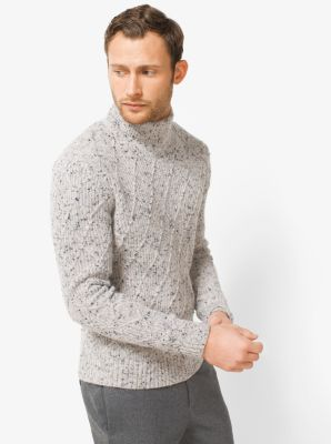 Donegal Wool-Blend Turtleneck Sweater by Michael Kors