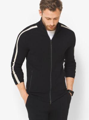 Striped Merino Wool Jacket by Michael Kors