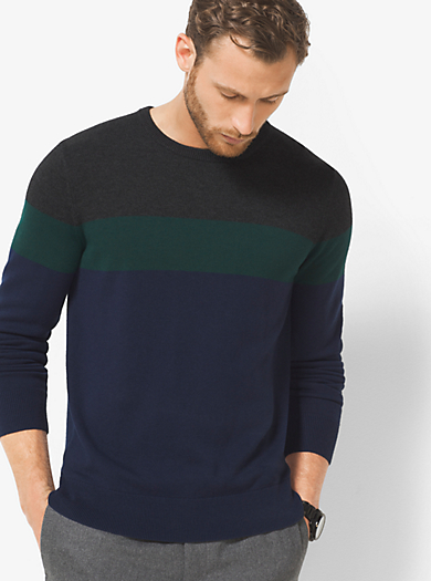 Color-Block Wool-Blend Sweater by Michael Kors